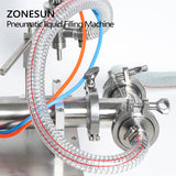 ZONESUN Pneumatic Automatic Liquid Filling machine Shampoo Water Milk Juice Oil Drink - ZONESUN TECHNOLOGY LIMITED