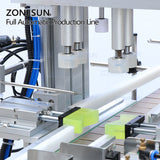 ZONESUN ZS-FAL180P2 Full Automatic Water Plastic Round Bottle Liquid Soap Filling Capping And Labeling Machine - ZONESUN TECHNOLOGY LIMITED