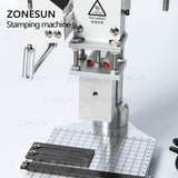 ZONESUN Hot Foil Stamping Machine Embossing Logo Trademark Manual Bronzing Machine For Finshed Leather Shoes Heat Cold Pressing - ZONESUN TECHNOLOGY LIMITED