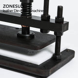 ZONESUN 3616cm Double Wheel Hand Leather Cutting Machine Photo Paper Pvc/Eva Sheet Mold Cutter Leather Die Cutting Tool - ZONESUN TECHNOLOGY LIMITED