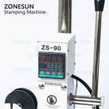 ZONESUN ZS-90 Hot Foil Stamping Machine For PVC Card Leather Paper - ZONESUN TECHNOLOGY LIMITED
