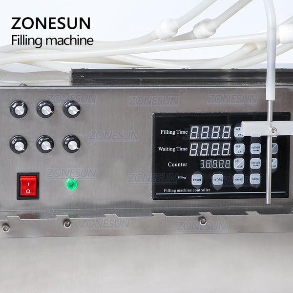 ZONESUN 6 Heads Self-priming Beverage Bag Liquid Filling Machine Digital Control Compact Precise Numerical Filling Machine - ZONESUN TECHNOLOGY LIMITED