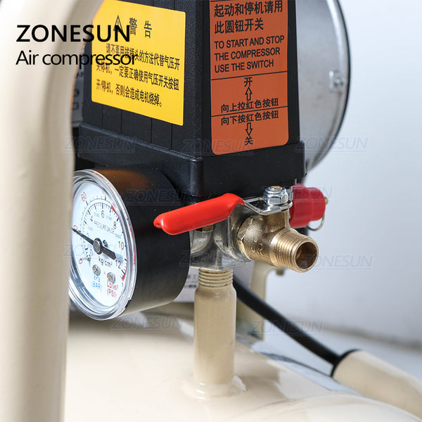 ZONESUN Portable Industrial Factory Silent Air Compressor Machine Piston Type And New Condition Air Compressor Machine - ZONESUN TECHNOLOGY LIMITED