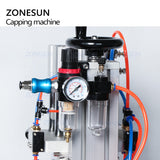 ZONESUN Pneumatic Perfume Bottle Vial Crimping Machine Oral Spray Head Capping Machine - ZONESUN TECHNOLOGY LIMITED