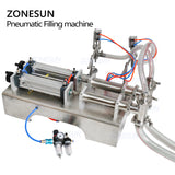 ZONESUN Double Head Milk Juice Liquid or Softdrink Pneumatic Filling Machine - ZONESUN TECHNOLOGY LIMITED