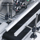 ZONESUN 4 Nozzles Magnetic Pump Automatic Desktop Liquid Filling Machine For Water Milk