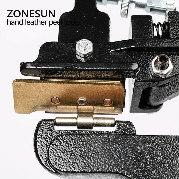 ZONESUN Leather paring device, hand leather peel tools, vegetable tanned leather peeler - ZONESUN TECHNOLOGY LIMITED