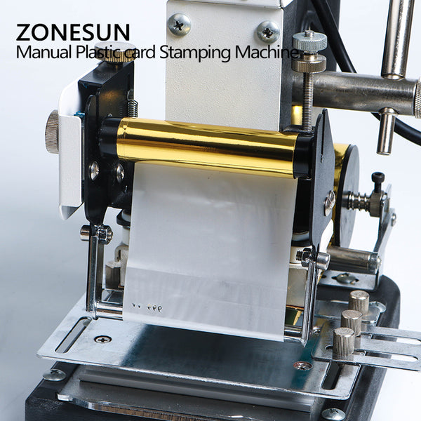 ZONESUN Hot Stamping Machine For PVC Card Member Club Hot Foil Stamping Bronzing Machine - ZONESUN TECHNOLOGY LIMITED