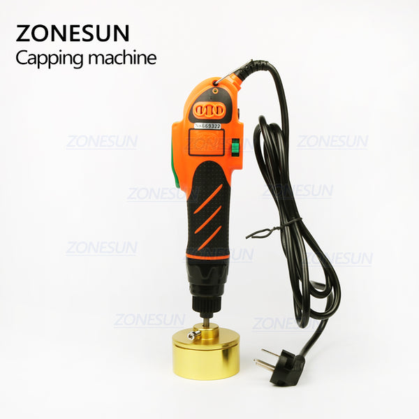 ZONESUN Hand Held Larger Power Bottle Capping Tool Plastic Bottle Capping Machine - ZONESUN TECHNOLOGY LIMITED