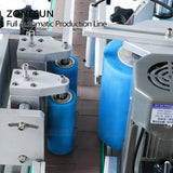 ZONESUN ZS-FAL180D Tabletop Oil Hand Sanitizer Bottle Liquid Jar Filling Capping Double Side Labeling Machinery - ZONESUN TECHNOLOGY LIMITED