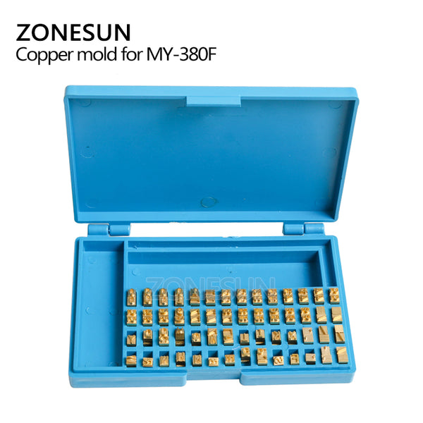 ZONESUN MY380 Alphabet Letter Fonts of Ribbon Printer Heat Stamping Head Ribbon Hot Stamping Spare Part Expiration Code Printing Machine - ZONESUN TECHNOLOGY LIMITED