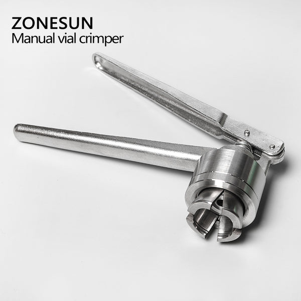 ZONESUN Manual Vial Crimper for Use with 20mm Crimp Seals Crimper Capper Vial Glass Drink Medicine Bottle Sealer Tool - ZONESUN TECHNOLOGY LIMITED
