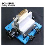ZONESUN Pneumatic Automatic hot foil Stamping Machine, spectacle case LOGO Creasing machine - ZONESUN TECHNOLOGY LIMITED