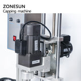 ZONESUN ZS-XG450 10-50mm Desktop Electric Plastic Glass Bottle Capping Machine With Security Ring - ZONESUN TECHNOLOGY LIMITED