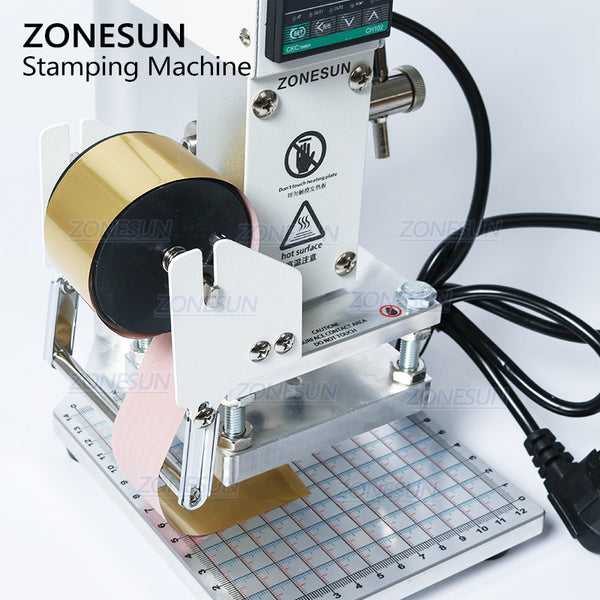 ZONESUN Custom Logo Hot Foil Manual Bronzing Machine for PVC Card Leather and Paper Stamping Machine - ZONESUN TECHNOLOGY LIMITED