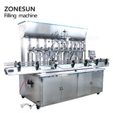 ZONESUN 8 Nozzle Automatic Paste Filling Machine For Honey Sauce Cream - ZONESUN TECHNOLOGY LIMITED