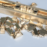 ZONESUN Customized Hot foil stamping brass plate customized debossing die cut, debossing mould - ZONESUN TECHNOLOGY LIMITED