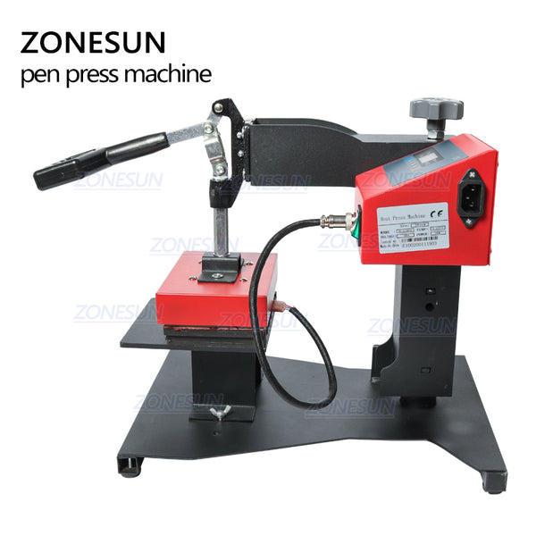 ZONESUN Pen Heat Printing Machine Hot Transfer Printing Machine Press Machine For Plastic Ball Point Pen Logo Pressing Machine - ZONESUN TECHNOLOGY LIMITED