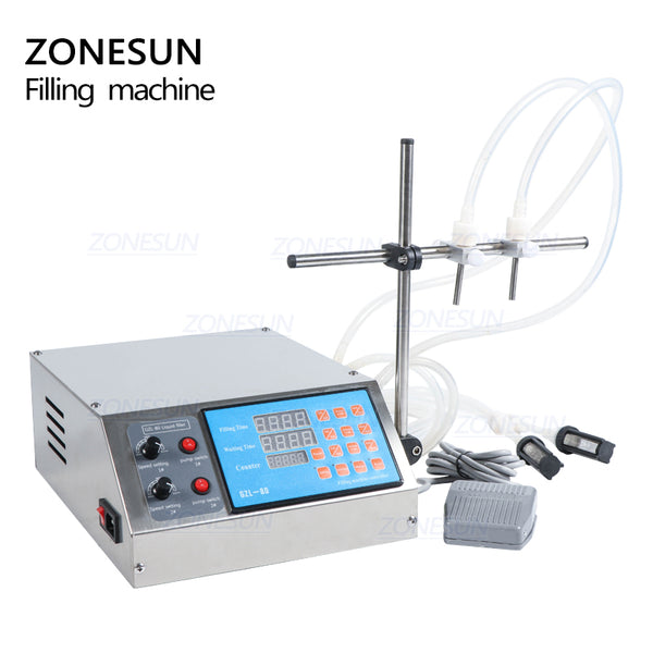 ZONESUN 2 Heads Peristaltic Pump Liquid Filling Machine For Juice Beverage Essential Oil - ZONESUN TECHNOLOGY LIMITED