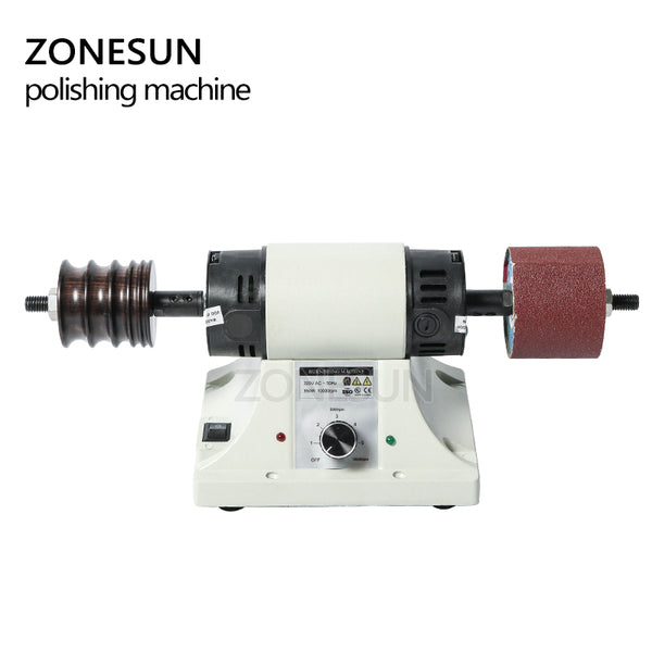 ZONESUN Vegetable Tanned Leather Burnishing Machine Mini Desktop Leather Edge Grinding Machine Polishing Tool Side Polisher - ZONESUN TECHNOLOGY LIMITED