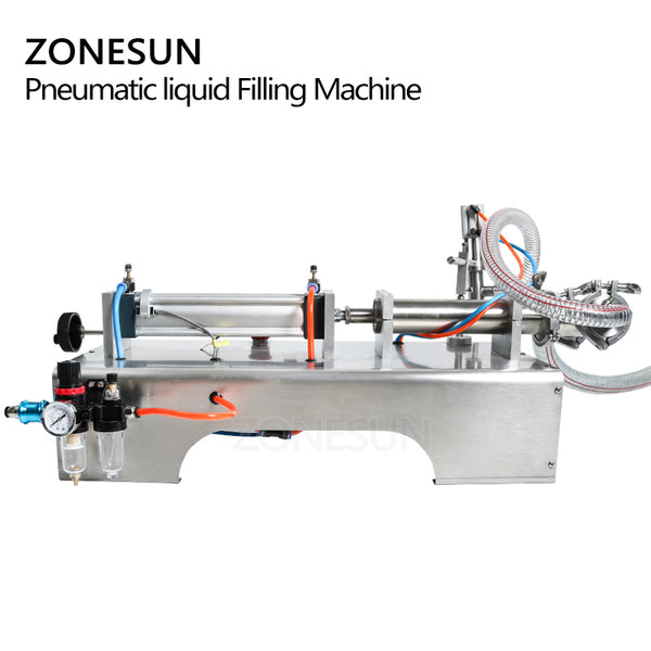 ZONESUN Pneumatic Piston Liquid Filler Shampoo Gel Water Wine Milk Juice Vinegar Coffee Oil Drink Detergent Filling Machine - ZONESUN TECHNOLOGY LIMITED