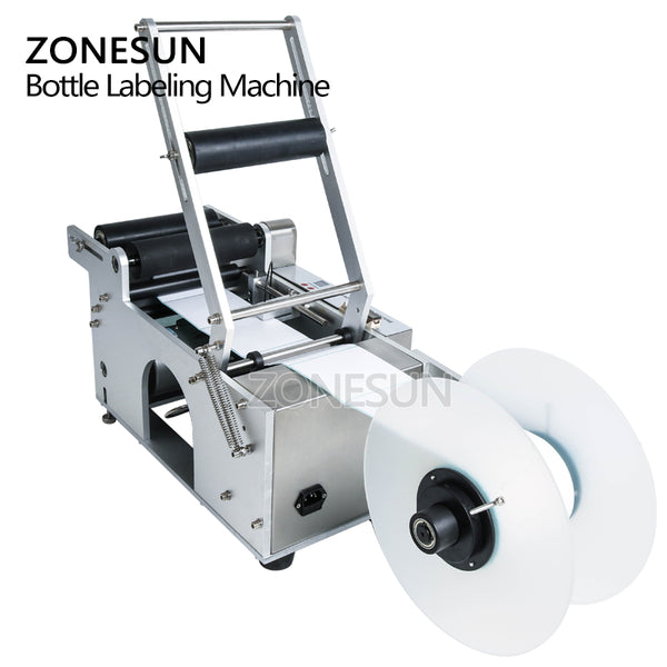 ZONESUN LT-50 Round Plastic Bottle Label Machine Round Bottle Labeling Machine Round Bottle Sticker Machine - ZONESUN TECHNOLOGY LIMITED