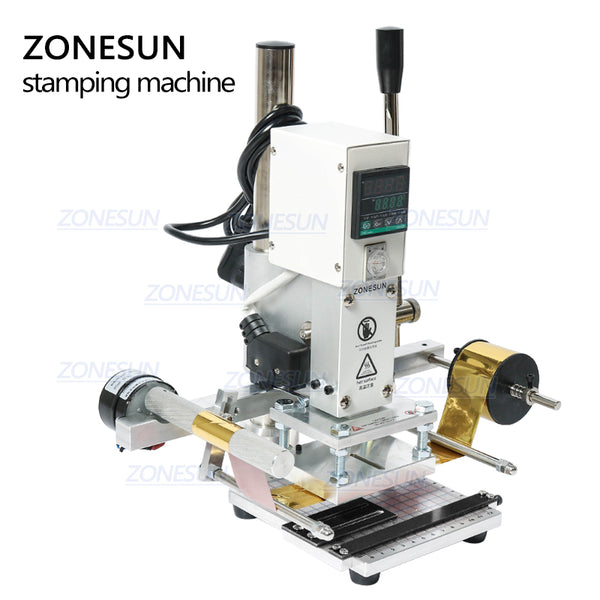 ZONESUN Digital Automatic Leather Hot Foil Stamping Machine Manual Embossing Tool 300W Creasing Wood Paper PVC Card Printer DIY - ZONESUN TECHNOLOGY LIMITED