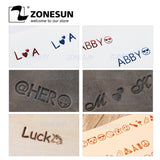 ZONESUN Diy GIFT Stamping Name Brass Mold Customized Logo On Wallet Shoes Leather Heat Press Name - ZONESUN TECHNOLOGY LIMITED