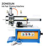 ZONESUN Pneumatic Ink Cup Pad Printing Machine Automatic Date Coding Machine Cosmetic Plastic Caps Cans Bottle Glass Pad Printer - ZONESUN TECHNOLOGY LIMITED