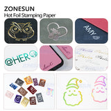 ZONESUN 5CM Rolls Gold Silver Hot Foil Stamping Paper  Paper For Heat Press Transfer Machine - ZONESUN TECHNOLOGY LIMITED