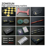 ZONESUN Pneumatic Automatic hot foil Stamping Machine,leather LOGO Creasing machine,LOGO stamper,Hot words machine - ZONESUN TECHNOLOGY LIMITED