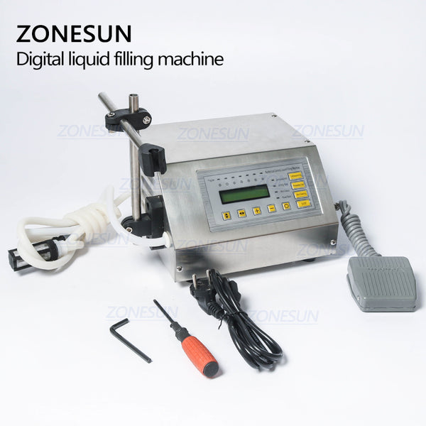 Wholesale price,Accuracy Digital liquid filling machine,LCD display perfume drink water milk - ZONESUN TECHNOLOGY LIMITED