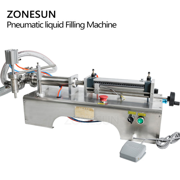 Pneumatic Automatic Liquid Filler Shampoo Gel Water Milk Juice Oil Drink  Filling Machine - ZONESUN TECHNOLOGY LIMITED