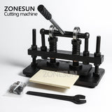 ZONESUN 26x12cm Double Wheel Manual Leather Cutting Machine Photo Paper Mold Cutter Leather Die Cutting Machine - ZONESUN TECHNOLOGY LIMITED