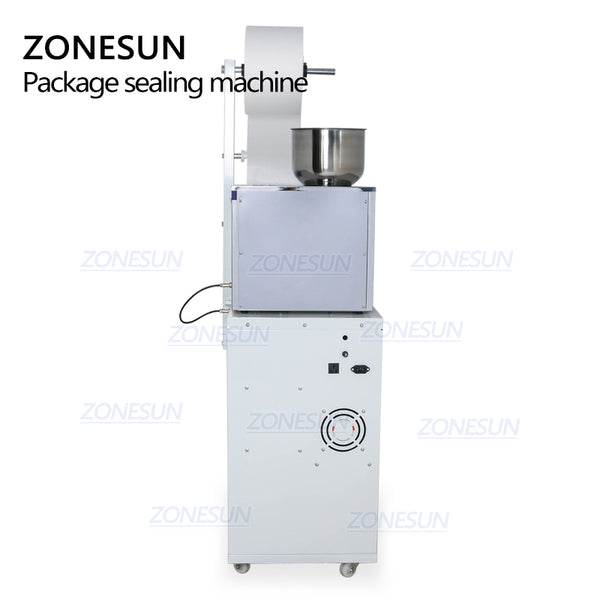 ZONESUN Food Coffee Bean Grain Automatic Weighing Packaging Machine Powder Bag Three Side Seal Filling Machine With Date Printer - ZONESUN TECHNOLOGY LIMITED