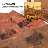 ZONESUN 8mm Custom Logo Brass Stamp For Foil Stamping Leather Wood Bread Food - ZONESUN TECHNOLOGY LIMITED