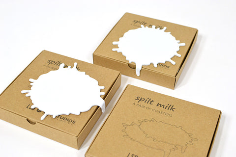 SPILT MILK COASTER SET LEG STUDIOS