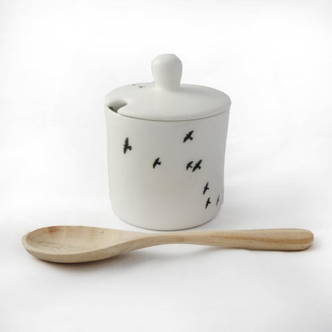 Bird Sugar Pot