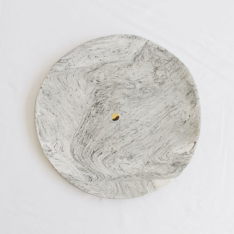 Marbled Gold Dot Large Platter