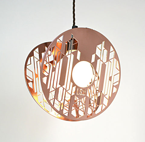 Halos - Copper Pendant Light