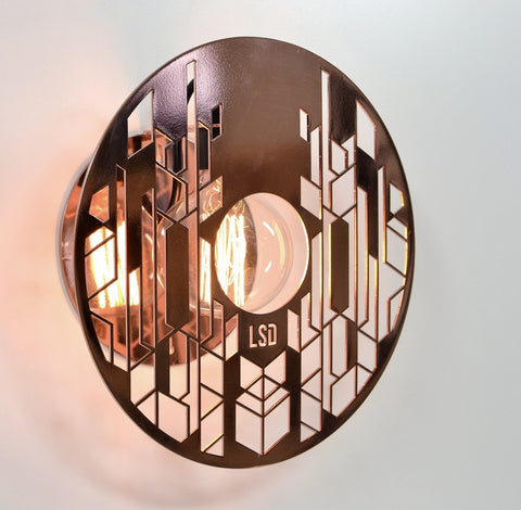 Halos - Copper Wall Light