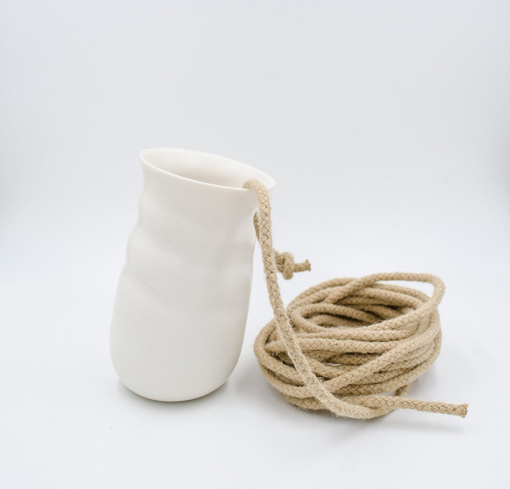 Jo Davies - Hanging Crackle Vase - Small