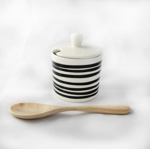 Stripe Sugar Pot