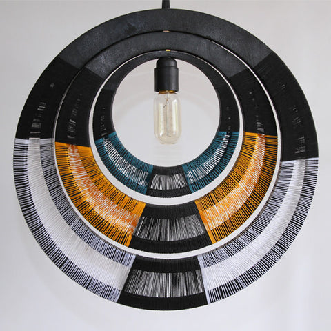 Woven Necklace Pendant Light - Yellow
