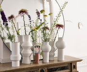 HK Living | White Speckled Clay Vase Angular L | House of Orange Melbourne