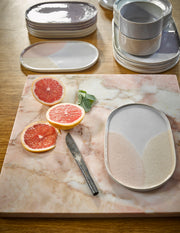 HK Living | Side Plate | Ceramic 80's Oval Pink/Nude | HK Living | House of Orange Melbourne