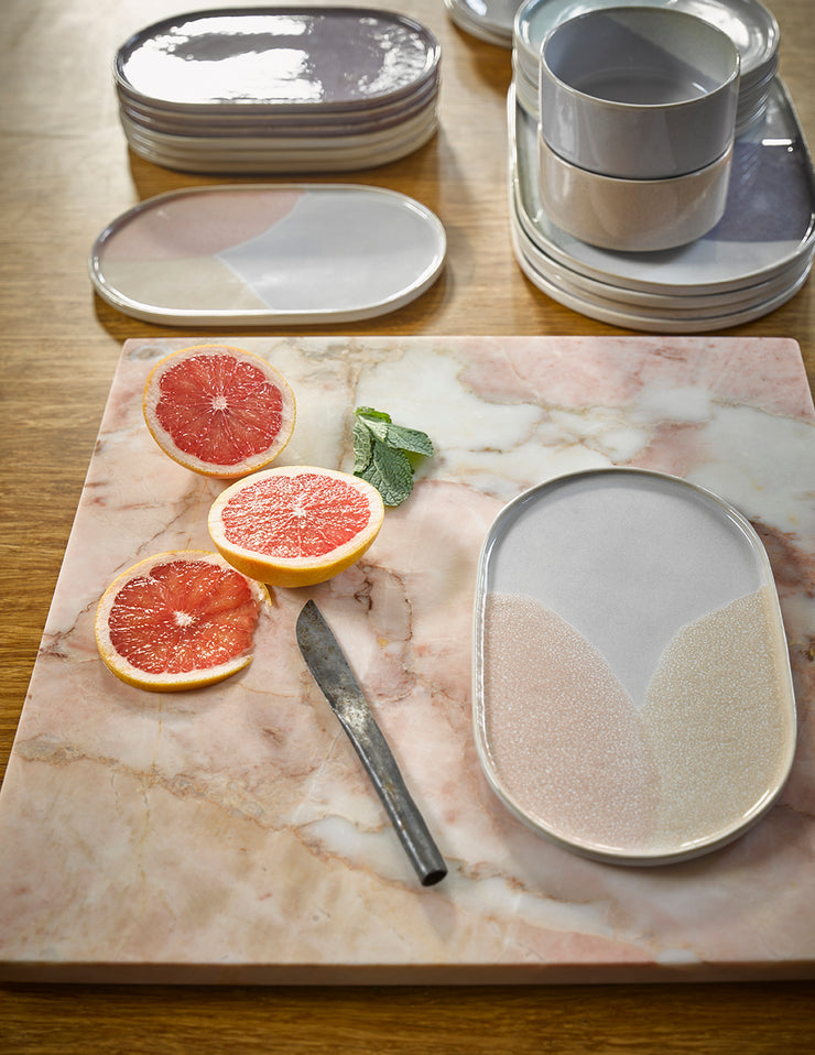 HK Living | Ceramic 80's Oval Side Plate Lilac | House of Orange Melbourne