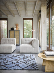 HK Living | Couch | Vint Element B Corduroy Rib Creme-Grey | HK Living | House of Orange Melbourne