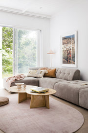 HK Living | Oval Viscose Rug Nude | House of Orange Melbourne