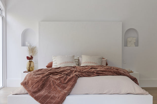 HK Living | Bedspread | Shabby Velvet Nude | HK Living | House of Orange Melbourne